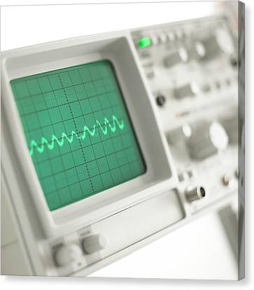 Oscilloscope Canvas Print by Science Photo Library