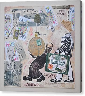 Ostap Bender In Jerusalem Canvas Print by Nekoda  Singer