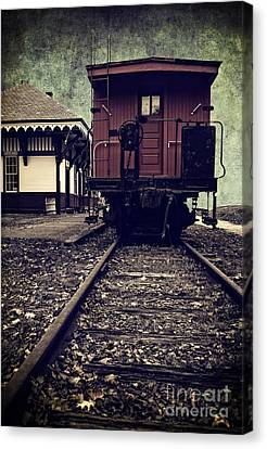 Other Side Of The Tracks Canvas Print by Edward Fielding
