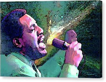 Otis Redding Canvas Print by John Travisano
