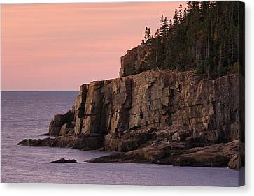 Otter Cliff At Dawn Canvas Print by Juergen Roth