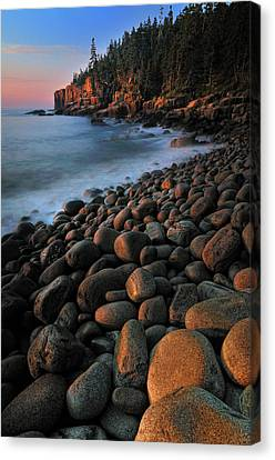 Otter Cliffs - Acadia National Park Canvas Print by Thomas Schoeller