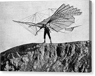 Otto Lilienthal And Glider Canvas Print by Bildagentur-online/tschanz