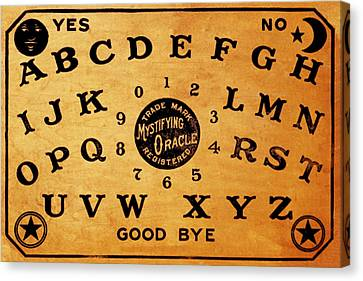 Ouija Board 3 Canvas Print by Tony Rubino