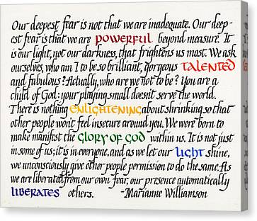 Our Deepest Fear Canvas Print by Sondra Venable