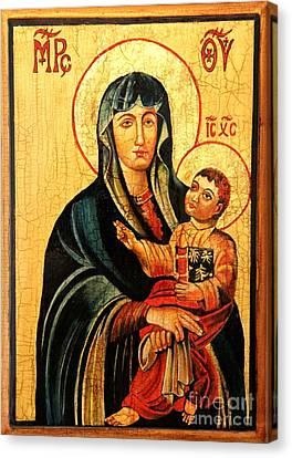 Our Lady Of Cieszyn Icon Canvas Print by Ryszard Sleczka