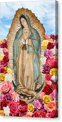 Our Lady Of Guadalupe Canvas Print by Nancy Ingersoll