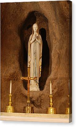 Our Lady Of Lourdes Canvas Print by Philip Ralley