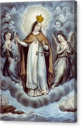 Our Lady Of Mercy Circa 1856  Canvas Print by Aged Pixel