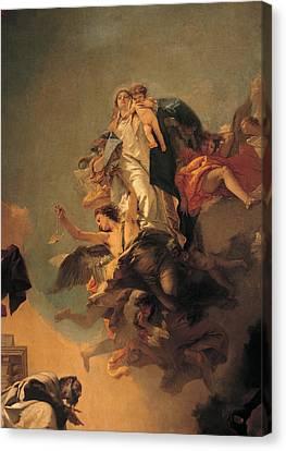 Our Lady Of Mount Carmel  Canvas Print by Tiepolo Giambattista
