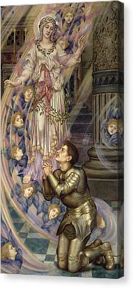 Our Lady Of Peace Canvas Print by Evelyn De Morgan