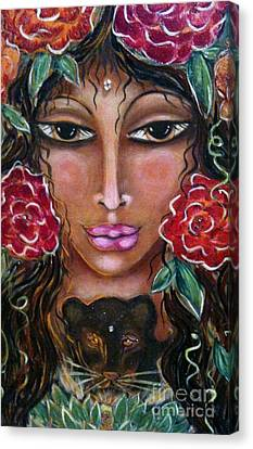 Our Lady Of The Lion Heart Canvas Print by Maya Telford