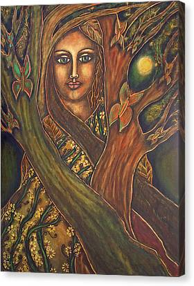 Our Lady Of The Shimmering Wildwood Canvas Print by Marie Howell Gallery