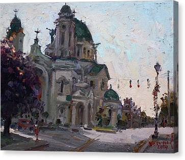 Our Lady Of Victory Basilica Canvas Print by Ylli Haruni