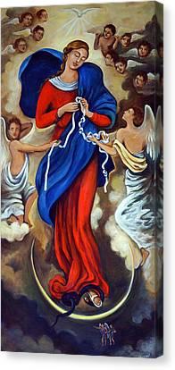 Our Lady Undoer Of Knots Canvas Print by Valerie Vescovi