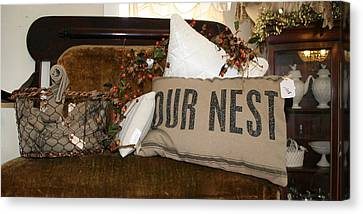 Our Nest Canvas Print by Rebecca Smith