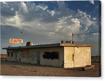 Our Old Cafe Canvas Print by Laurie Search