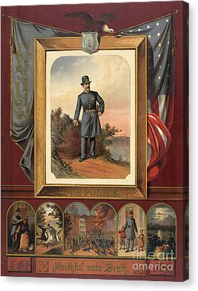 Our Police - Faithful Unto Death 1879 Canvas Print by Padre Art