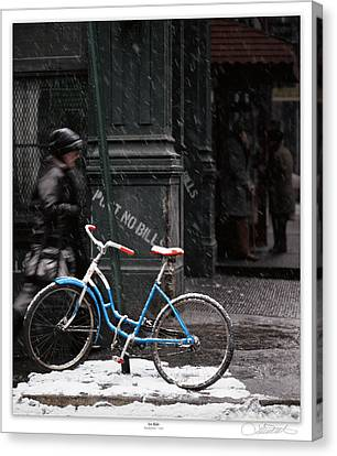 Out For An Ice Ride Canvas Print by Lar Matre