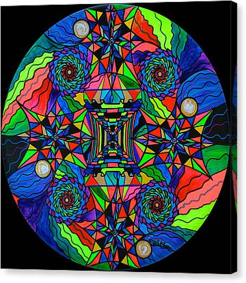 Out Of Body Activation Grid Canvas Print by Teal Eye  Print Store