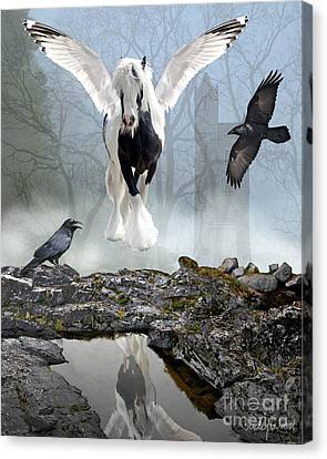 Out Of The Mist Canvas Print by Judy Wood