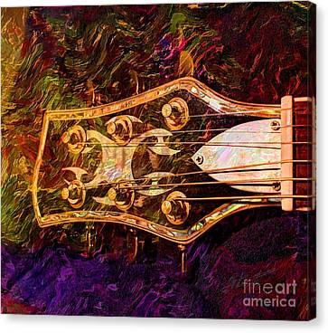 Out Of Tune Digital Guitar Art By Steven Langston Canvas Print by Steven Lebron Langston