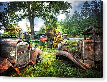 Out To Pasture Friends Canvas Print by Debra and Dave Vanderlaan