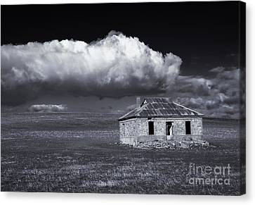 Outback Ruin Canvas Print by Mike  Dawson
