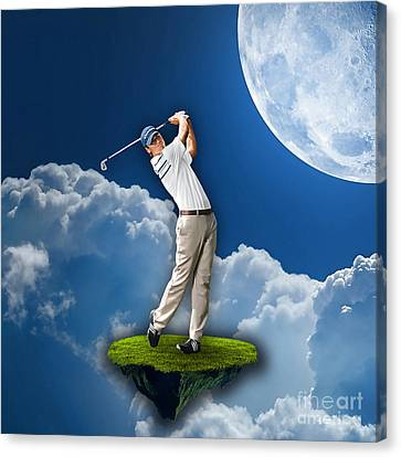 Outdoor Golf Canvas Print by Marvin Blaine