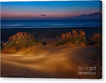 Outer Banks - Before Sunrise On Pea Island I Canvas Print by Dan Carmichael