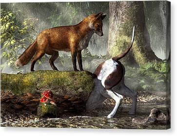 Outfoxed Canvas Print by Daniel Eskridge
