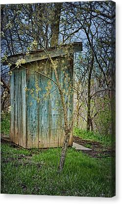 Outhouse In Spring Canvas Print by Nikolyn McDonald