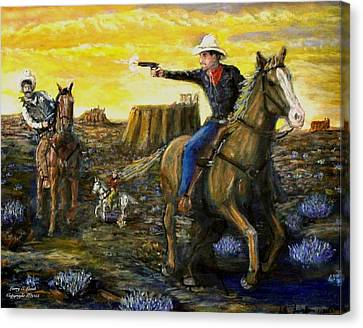 Outlaw Trail Canvas Print by Larry E Lamb