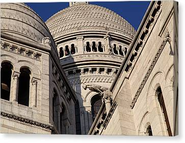 Outside The Basilica Of The Sacred Heart Of Paris - Sacre Coeur - Paris France - 011310 Canvas Print by DC Photographer