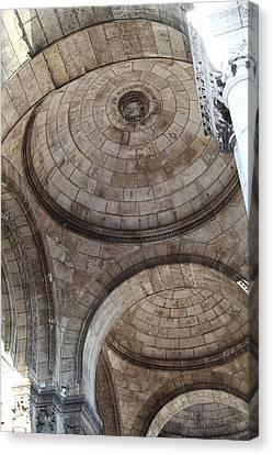 Outside The Basilica Of The Sacred Heart Of Paris - Sacre Coeur - Paris France - 011311 Canvas Print by DC Photographer