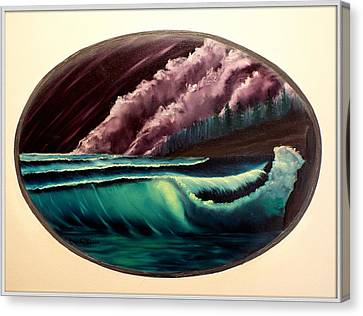 Oval Ocean View Canvas Print by Joyce Krenson