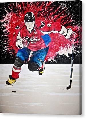 Ovechkin Canvas Print by Darryl Mallanda
