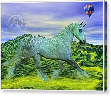 Over Oz's Rainbow Canvas Print by Betsy Knapp