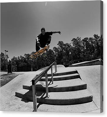 Over The Rail Canvas Print by Mick Logan