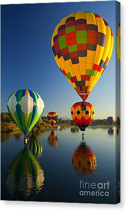 Over The Water Canvas Print by Mike  Dawson