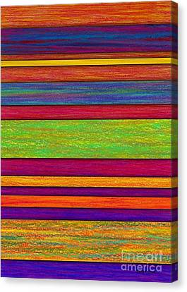 Overlay Stripes Canvas Print by David K Small