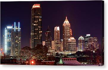 Overlooking Atlanta Canvas Print by Frozen in Time Fine Art Photography