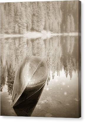 Overturned Canoe Canvas Print by Catherine Noel