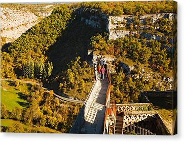 Overview Of Chateau Ramparts Canvas Print by Panoramic Images