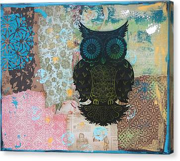 Owl Of Style Canvas Print by Kyle Wood