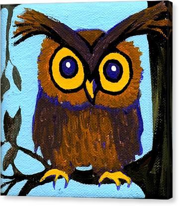 Owlette Canvas Print by Genevieve Esson