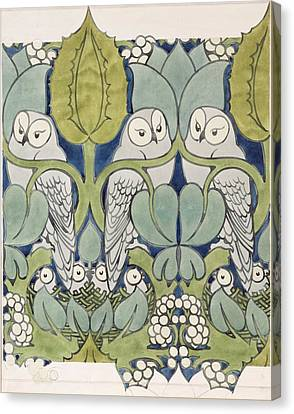 Owls, 1913 Canvas Print by Charles Francis Annesley Voysey
