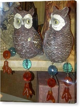 Owls Canvas Print by Barbara Yodice