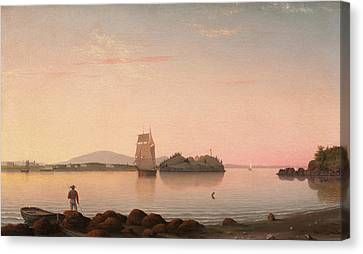 Owls Head Penobscot Bay Maine Canvas Print by Fitz Henry Lane