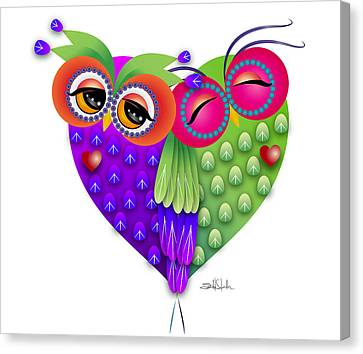 Owl's Love Canvas Print by Isabel Salvador